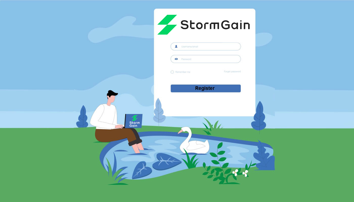 How to Register Account in StormGain